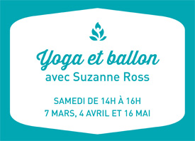 ATELIER: yoga et ballon, avec Suzanne Ross